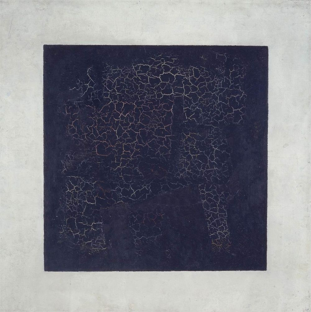 Kazimir Malevich, 1915, Black Suprematic Square, oil on linen canvas, 79.5 x 79.5 cm, Tretyakov Gallery, Moscow.